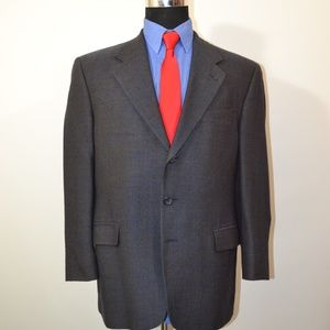 Prima 42S Sport Coat Blazer Suit Jacket Blue Gray